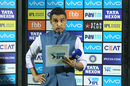 Sanjay Manjrekar at the post-match presentation, Rajasthan Royals v Kings XI Punjab, IPL 2018, Jaipur, May 8, 2018