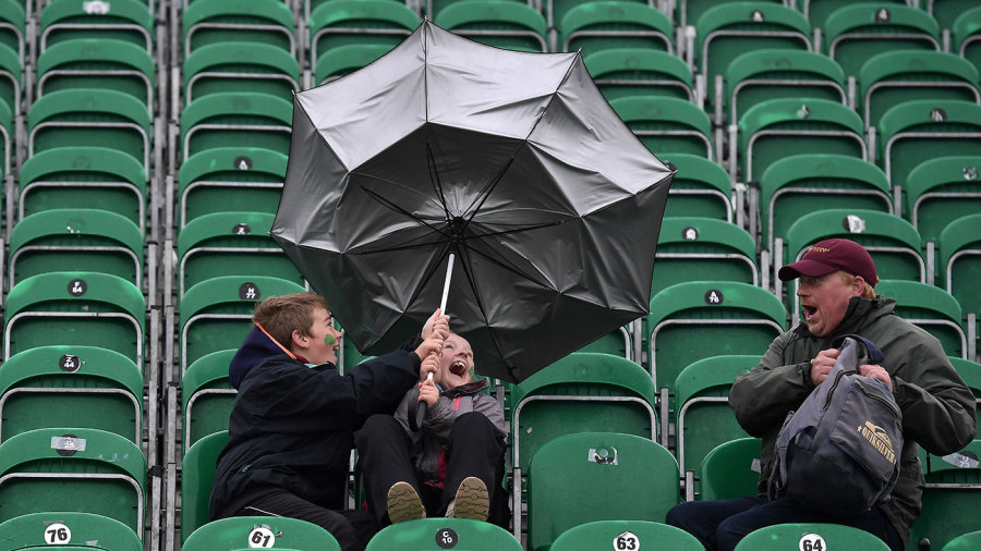 Not an easy day for using umbrellas