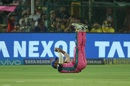 Stuart Binny falls on his back after taking a catch, Rajasthan Royals v Chennai Super Kings, IPL 2018, Jaipur, May 11, 2018