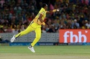 Dwayne Bravo stops the ball with one hand, Rajasthan Royals v Chennai Super Kings, IPL 2018, Jaipur, May 11, 2018