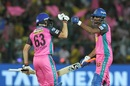 Jos Buttler and K Gowtham punch gloves, Rajasthan Royals v Chennai Super Kings, IPL 2018, Jaipur, May 11, 2018