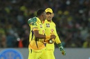 MS Dhoni has a word with Dwayne Bravo, Rajasthan Royals v Chennai Super Kings, IPL 2018, Jaipur, May 11, 2018