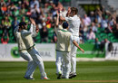 Boyd Rankin claimed the first wicket, Ireland v Pakistan, Only Test, Malahide, 2nd day, May 12, 2018