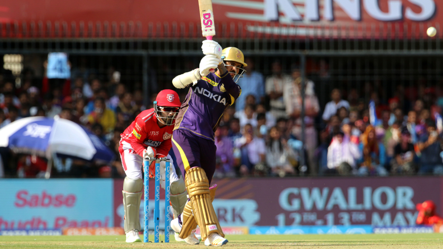 Sunil Narine goes over the top