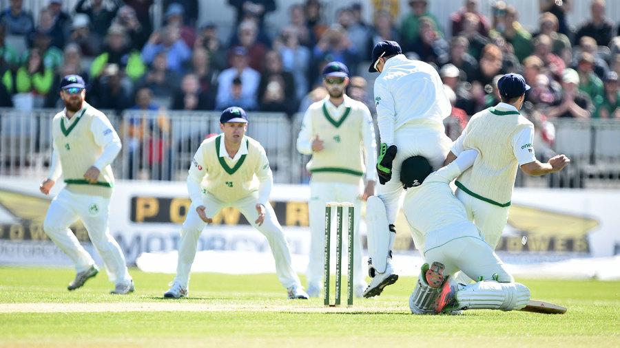 Imam-ul-Haq got into a horrid tangle before even facing a ball