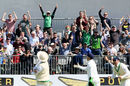 Ireland's fans are gleeful as another Pakistan wicket falls, Ireland v Pakistan, Only Test, Malahide, 2nd day, May 12, 2018