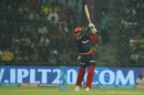 Jason Roy smacks a boundary through the infield, Delhi Daredevils v Royal Challengers Bangalore, IPL 2018, Delhi, May 12, 2018