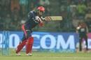Abhishek Sharma punches one down the ground, Delhi Daredevils v Royal Challengers Bangalore, IPL 2018, Delhi, May 12, 2018