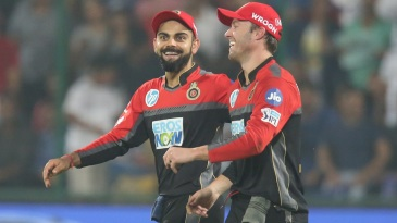 Virat Kohli and AB de Villiers share a lighter moment