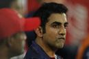 Gautam Gambhir looks on from the dugout, Delhi Daredevils v Royal Challengers Bangalore, IPL 2018, Delhi, May 12, 2018