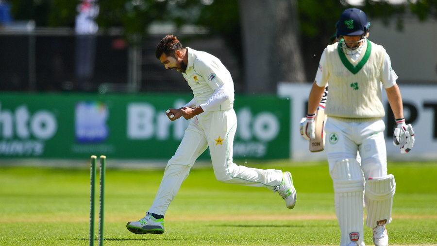 Mohammad Amir ripped out William Porterfield's off stump