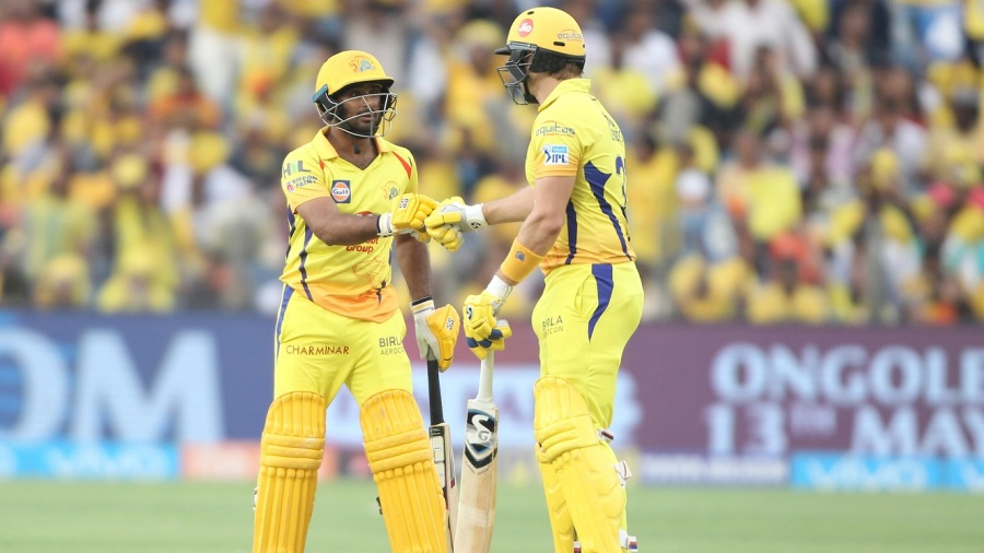 Openers Ambati Rayudu and Shane Watson completed a fifty-run stand