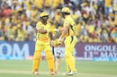Openers Ambati Rayudu and Shane Watson completed a fifty-run stand, Chennai Super Kings v Sunrisers Hyderabad, IPL 2018, Pune, May 13, 2018