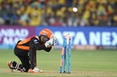 Shreevats Goswami completes a run out, Chennai Super Kings v Sunrisers Hyderabad, IPL 2018, Pune, May 13, 2018