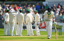Mohammad Abbas removed Andy Balbirnie for a duck in his maiden Test innings, Ireland v Pakistan, Only Test, Malahide, 3rd day, May 13, 2018