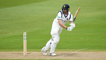 Will Rhodes in action for Warwickshire