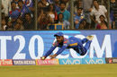 Sanju Samson dives full stretch for a one-handed stunner, Mumbai Indians v Rajasthan Royals, IPL, Mumbai, May 13, 2018