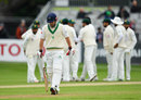 Ed Joyce was run out early on the fourth day, Ireland v Pakistan, Only Test, Malahide, 4th day, May 14, 2018