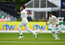 Mohammad Amir had Will Porterfield caught behind for 32, Ireland v Pakistan, Only Test, Malahide, 4th day, May 14, 2018