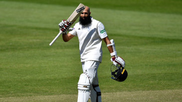 Hashim Amla acknowledges his century