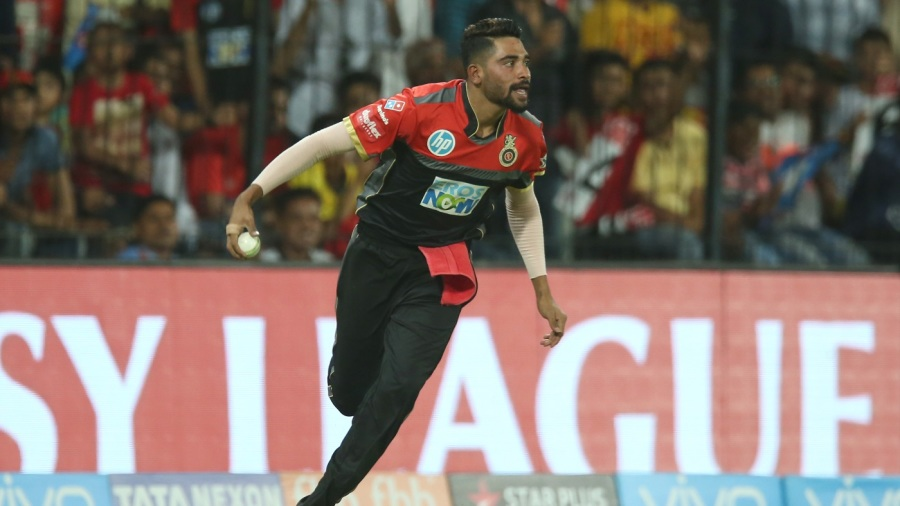 Mohammed Siraj takes off in celebration