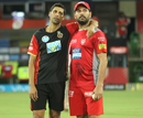 Ashish Nehra caught up with his old mate Yuvraj Singh, Kings XI Punjab v Royal Challengers Bangalore, IPL 2018, Indore, May 14, 2018