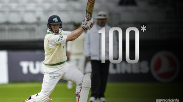Kevin O'Brien became the first Irishman to score a Test hundred