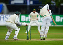 Stuart Thompson was bowled by Shadab Khan, Ireland v Pakistan, Only Test, Malahide, 4th day, May 14, 2018