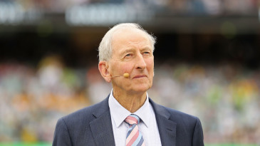 Bill Lawry looks on during the Boxing Day Test