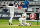 Kevin O'Brien edged his first ball of the day to slip, Ireland v Pakistan, Only Test, Malahide, 5th day, May 15, 2018