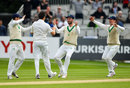 Tim Murtagh claimed the key scalp of Azhar Ali in his first over, Ireland v Pakistan, Only Test, Malahide, 5th day, May 15, 2018