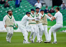 Ed Joyce scooped the wicket of Haris Sohail in the gully, Ireland v Pakistan, Only Test, Malahide, 5th day, May 15, 2018