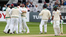 Ireland celebrate the dismissal of Asad Shafiq, Ireland v Pakistan, Only Test, Malahide, 5th day, May 15, 2018