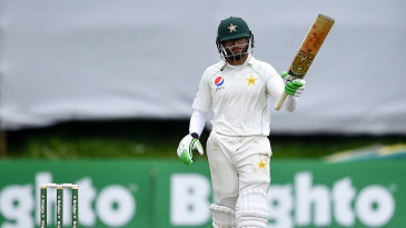 Imam-ul-Haq brought up a fifty on Test debut