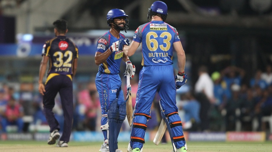 Rahul Tripathi and Jos Buttler put up 46 runs in 10 balls