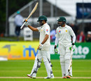 Babar Azam acknowledges his half-century, Ireland v Pakistan, Only Test, Malahide, 5th day, May 15, 2018