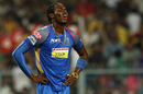 Jofra Archer reacts in the field, Kolkata Knight Riders v Rajasthan Royals, IPL 2018, Kolkata, May 15, 2018