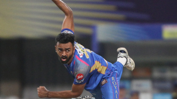 Jaydev Unadkat in his follow through