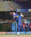 Jaydev Unadkat in his follow through, Kolkata Knight Riders v Rajasthan Royals, IPL 2018, Kolkata, May 15, 2018