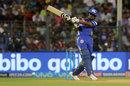 Evin Lewis pulls through midwicket, Mumbai Indians v Kings XI Punjab, IPL 2018, May 16, 2018, Mumbai