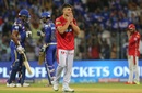 Marcus Stoinis watches the ball sail away, Mumbai Indians v Kings XI Punjab, IPL 2018, Mumbai, May 16, 2018