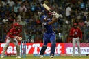 Kieron Pollard launches one, Mumbai Indians v Kings XI Punjab, IPL 2018, Mumbai, May 16, 2018