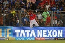 Ankit Rajpoot attempts a difficult catch, Mumbai Indians v Kings XI Punjab, IPL 2018, Mumbai, May 16, 2018