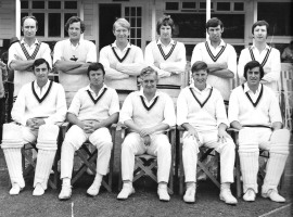 The Minor Counties team that took on West Indies in 1973. David Bailey is third from left, back row. Frank Collyer back row, far right