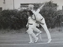 Brian Collins bowls, Minor Counties v Australians, Sunderland, August 4, 1977