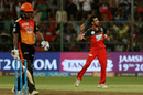 Yuzvendra Chahal had Shikhar Dhawan caught and bowled, Royal Challengers Bangalore v Sunrisers Hyderabad, IPL 2018, Bengaluru, May 17, 2018