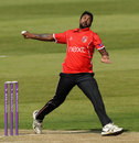 Varun Aaron bowls for Leicestershire, Northants v Leicestershire, Royal London Cup, Northampton, May 17, 2018