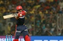 Vijay Shankar attempts to play a cut, Delhi Daredevils v Chennai Super Kings, IPL 2018, Delhi, May 18, 2017