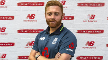 Jonny Bairstow at the launch of England's new one-day kit