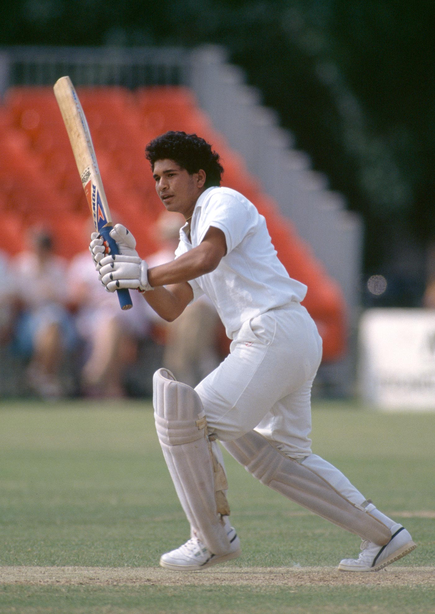 Sachin Tendulkar on his way to 65 in the draw against Minor Counties at Trowbridge in 1990